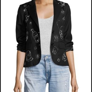 Libertine Party Skulls Gaberdine Jacket